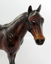 BIZZEE RUNNING-OOAK GLOSSY DAPPLED SILVER BAY ISH MODEL HORSE 02/16/17