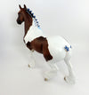 FEELIN BLU-OOAK BAY PINTO TROTING DRAFTER MODEL HORSE 02/17/17