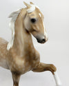RISING STAR-OOAK STAR DAPPLED PALOMINO SADDLE BRED MODEL HORSE BY DAWN QUICK 02/22/17