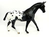 SIR TROOPER OOAK- FEW SPOT BLACK APPALOOSA PONY MODEL HORSE 12/22