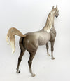 REGAL EAGLE-OOAK STAR DAPPLED CHESTNUT GOING GREY ARABIAN MODEL HORSE BY SHERYL LEISURE 02/22/17