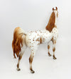 DESERT SUN-OOAK CHESTNUT APPALOOSA ARABIAN MODEL HORSE BY DAWN QUICK 02/22/17