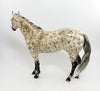 FAT TUESDAY-OOAK BUCKSKIN MARBLED APPALOOSA ISH MODEL HORSE 2/24