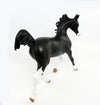 RIHANNA-OOAK DAPPLE BLACK YEARLING MODEL HORSE 3/1