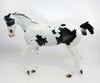 HOLY WINE-OOAK MAPPED BLACK PAINT THOROUGHBRED MODEL HORSE 2/27