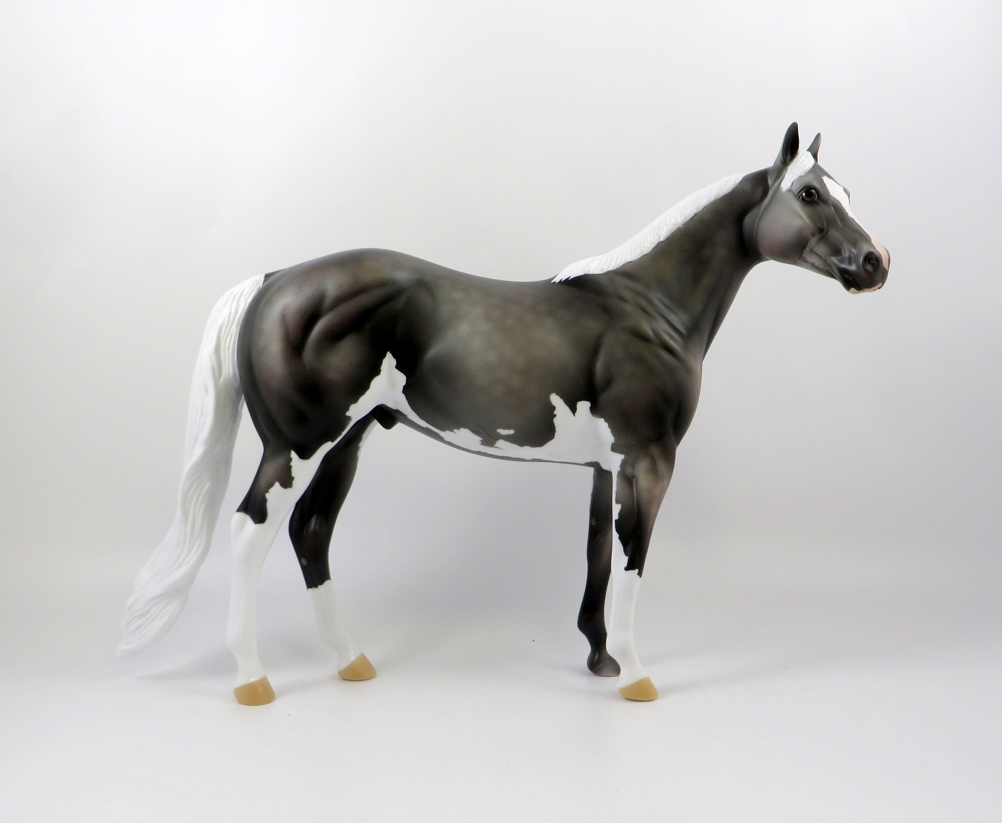 SWAE LEE-OOAK DAPPLE ROSE GREY ISH MODEL HORSE 7/26/19