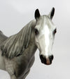 MR. IRRESISTABLE-OOAK STAR DAPPLED GREY ISH MODEL HORSE BY SHERYL LEISURE 03/02/17