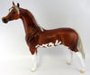 LI SHANG-CHESTNUT PAINT ARABIAN MODEL HORSE EQ 2016