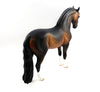 ANNICE~OOAK DAPPLE BAY ROACHED MANE ANDALUSIAN MODEL HORSE BY SHERYL LEISURE 3/3