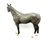 GREY FLANNEL-OOAK DAPPLED GREY ISH MODEL HORSE 03/08/17