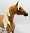 JUST PEACHY-OOAK DAPPLED PALOMINO MORGAN MODEL HORSE 03/08/17