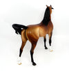 SILAS~OOAK GOLDEN DAPPLE BAY ARABIAN MODEL HORSE 3/22