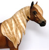 GOLDEN FLAME-OOAK DAPPLED GOLDEN CHESTNUT ISH MODEL HORSE BY SHERYL LEISURE 03/16/17