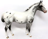 CRACKER JAX-OOAK BLACK APPALOOSA ISH MODEL HORSE 3/17