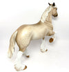 CREME DE LA CREME-OOAK CREAM STAR DAPPLE TROTTING DRAFTER MODEL HORSE BY SHERYL LEISURE 03/17/17