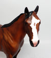 CHEVRON~OOAK BAY ROAN ISH MODEL HORSE 3/22