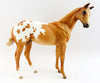 ORANGE BLOSSOM~LE-3 CHESTNUT BLANKET APPALOOSA WEANLING MODEL HORSE 3/24