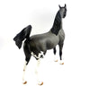 BLUE WILLOW-OOAK BLUE ROAN ARABIAN MARE MODEL HORSE 03/24/17