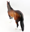 RED ROCK-OOAK DAPPLE BAY ISH MODEL HORSE BY SHERYL LEISURE 3/24