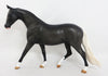 CHECKERS~OOAK DAPPLE BLACK PONY MODEL HORSE 3/31/17