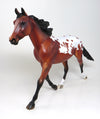 "HAIWEE ""DOVE"" LE- 6 BAY APPALOOSA PALOUSE MODEL HORSE 5/11"