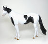 "SPOOKALICIOUS-AKA ""SPOOK"" BLACK AND WHITE PAINT ISH MODEL HORSE  TALENT IN OUR OWN BACKYARD WINNER 5/6"
