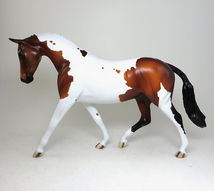 chestnut paint english pony