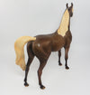 TWIX-NC OOAK DAPPLED CHOCOLATE PALOMINO ARABIAN MODEL HORSE 4/5/17