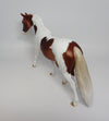 PANGA~OOAK DAPPLE CHESTNUT PAINT PONY MODEL HORSE BY DAWN QUICK 4/19