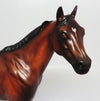 TRITURATION-OOAK MINIMALLY STAR DAPPLED BAY ISH MODEL HORSE BY SHERYL LEISURE 04/19/17
