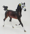 La Telarana - OOAK Bay Stock Horse Sugar Skull Mare with Flowers & Ribbons - 9/17