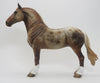 FIVE STAR DELIGHT - OOAK LIGHT CHESTNUT STANDING DRAFTER MODEL HORSE - 9/18
