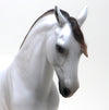 PINK - DAPPLE ROSE GREY ANDALUSIAN MODEL HORSE MARE - LE10 - 10/16
