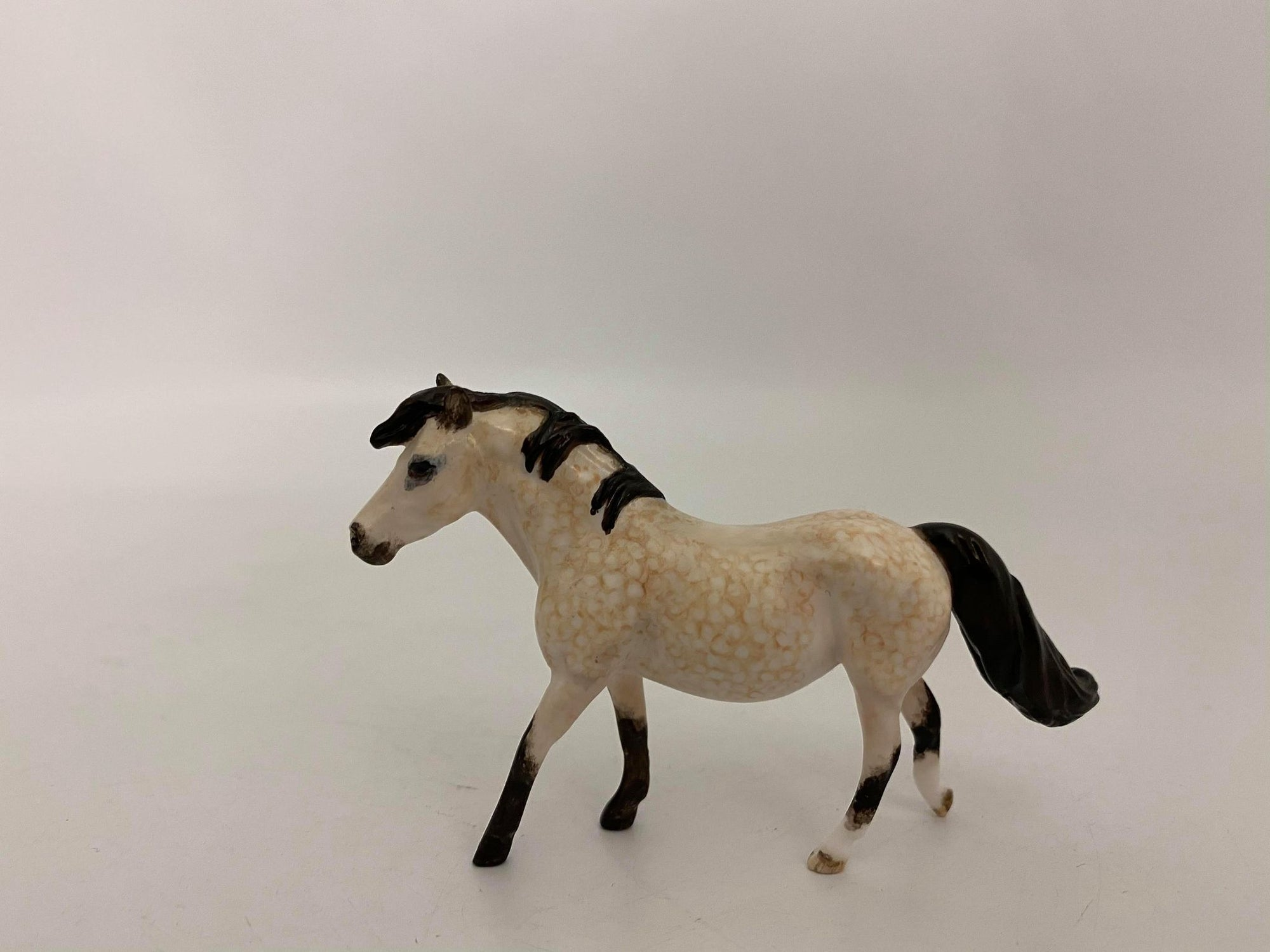 Itsy-OOAK Dapple Buckskin Pony Chip Painted By Andrea Thompson 12/30/20