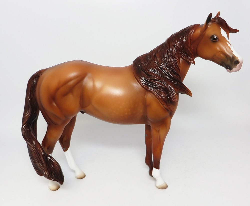 RED NINJA-LE-12 CUSTOM CHESTNUT ISH MODEL HORSE 12-12-17
