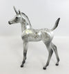 SILVER DAPPLE FOAL UNICORN DECORATOR MODEL HORSE BY DQ 2/5