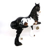 XAVIER-OOAK MAPPED SEAL BAY TROTTING DRAFTER MODEL HORSE BY DAWN QUICK 3/17/17