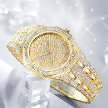 Load image into Gallery viewer, Unisex Jumbo Fully Iced Out Quartz Watch-Free Shipping