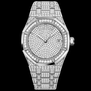 Unisex Jumbo Fully Iced Out Quartz Watch-Free Shipping