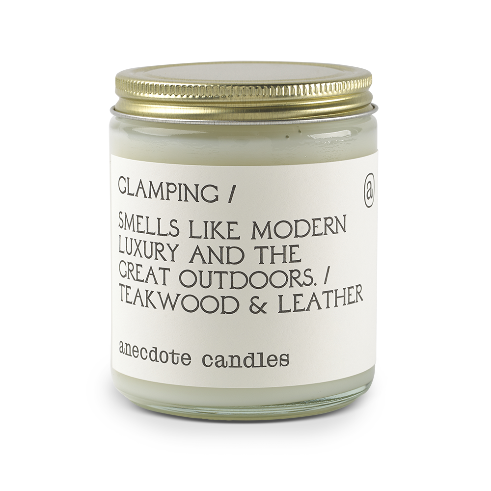 Glamping - Teakwood & Leather Candle