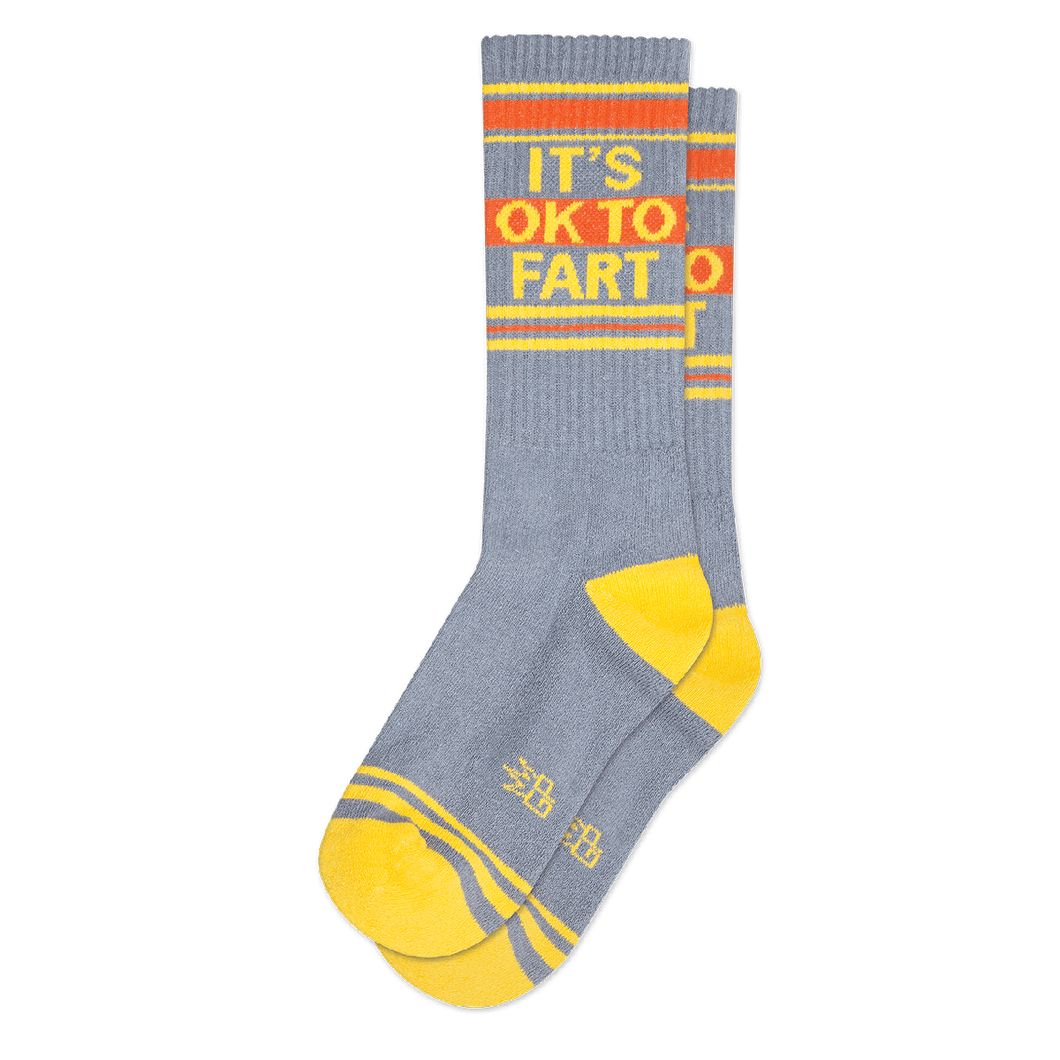 It's OK To Fart Crew Socks