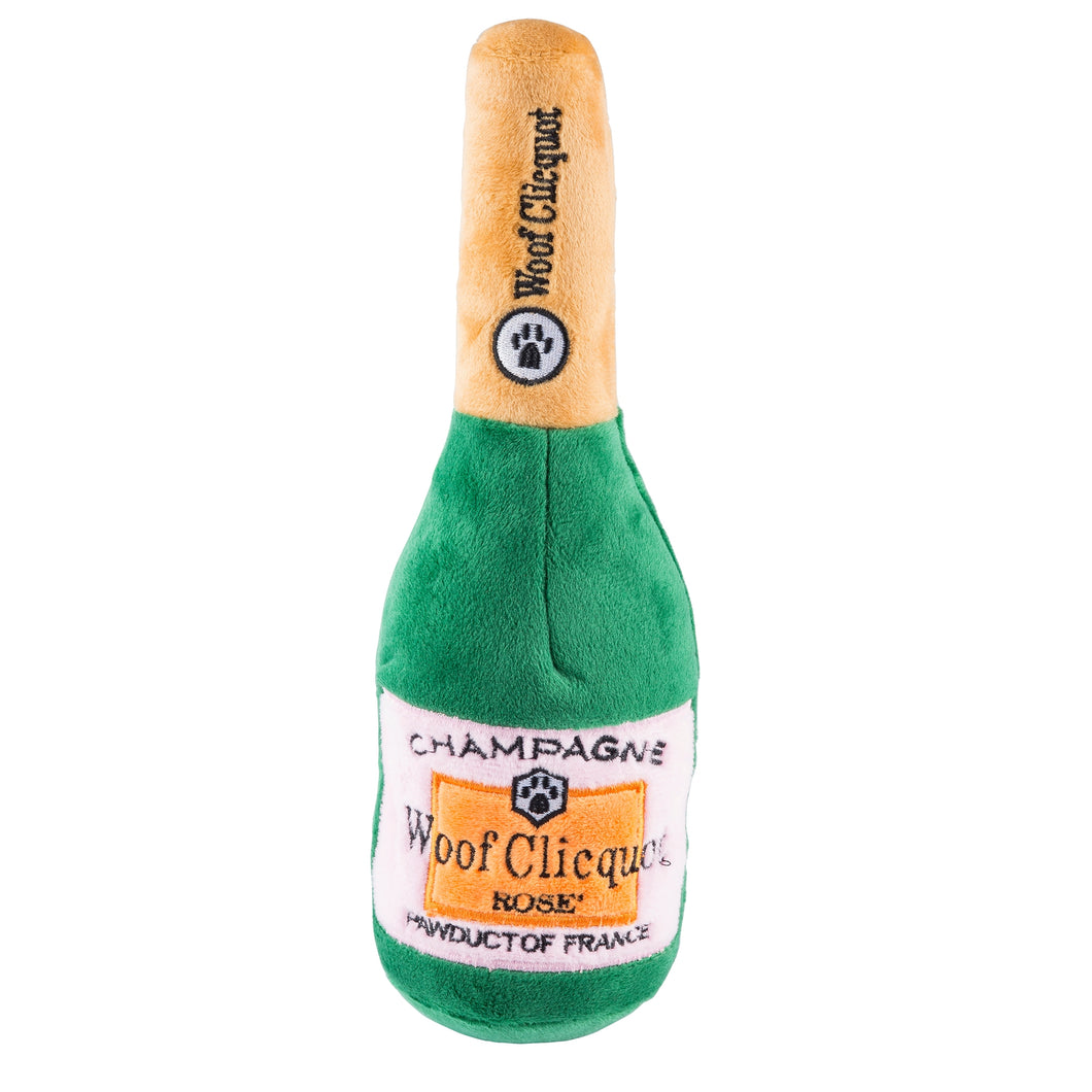 Woof Clicquot Rose' Champagne Dog Toy - Small