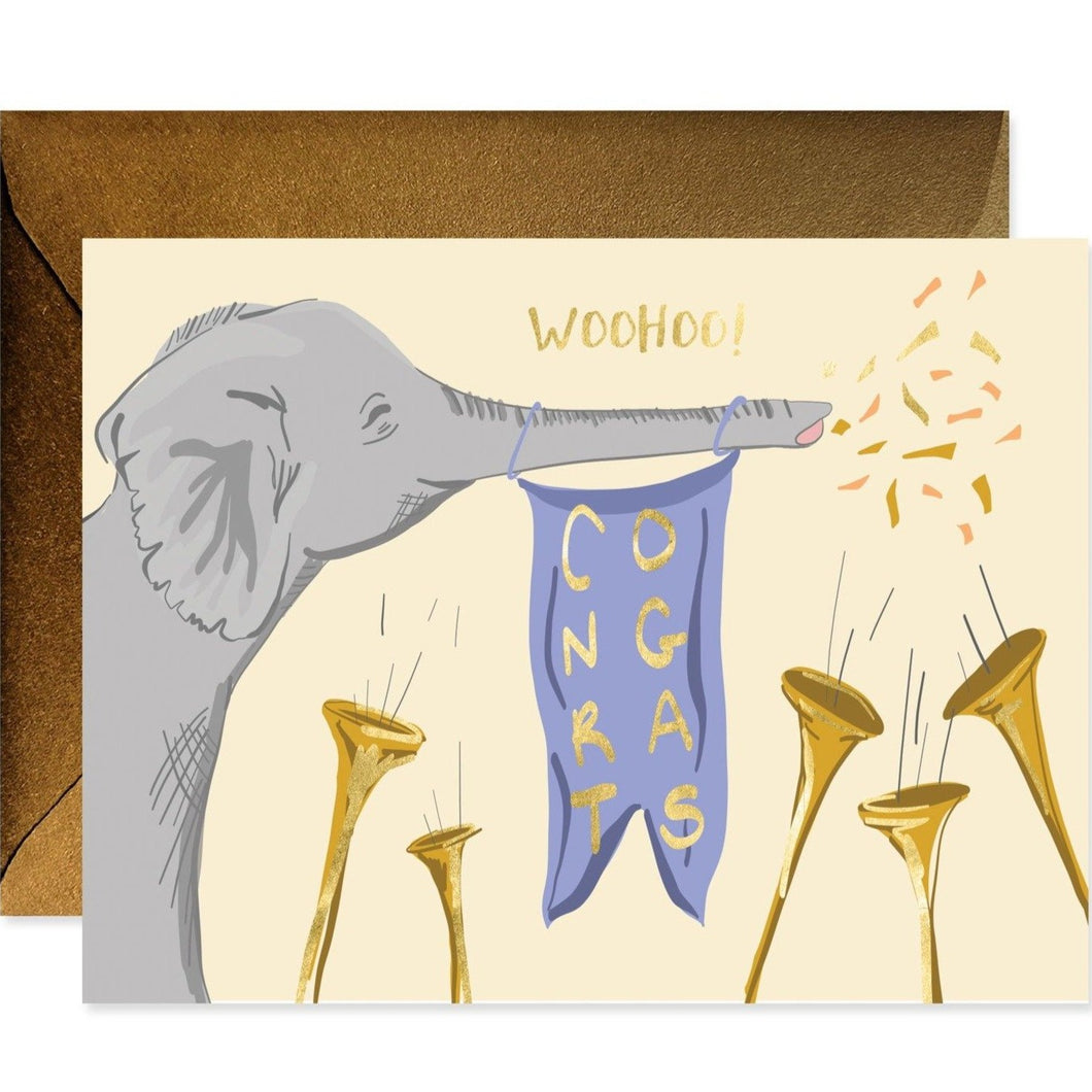 Congrats Elephant Card