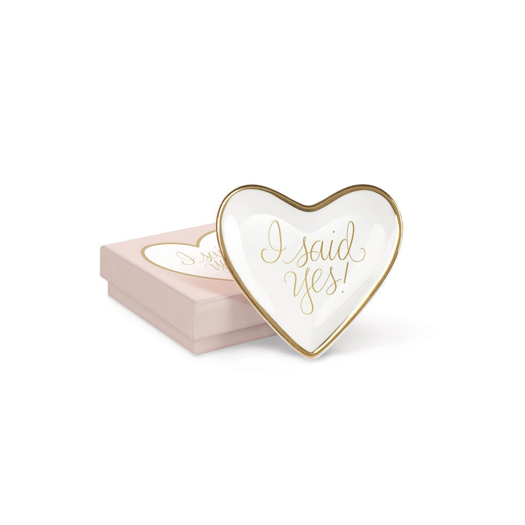 I Said Yes heart tray