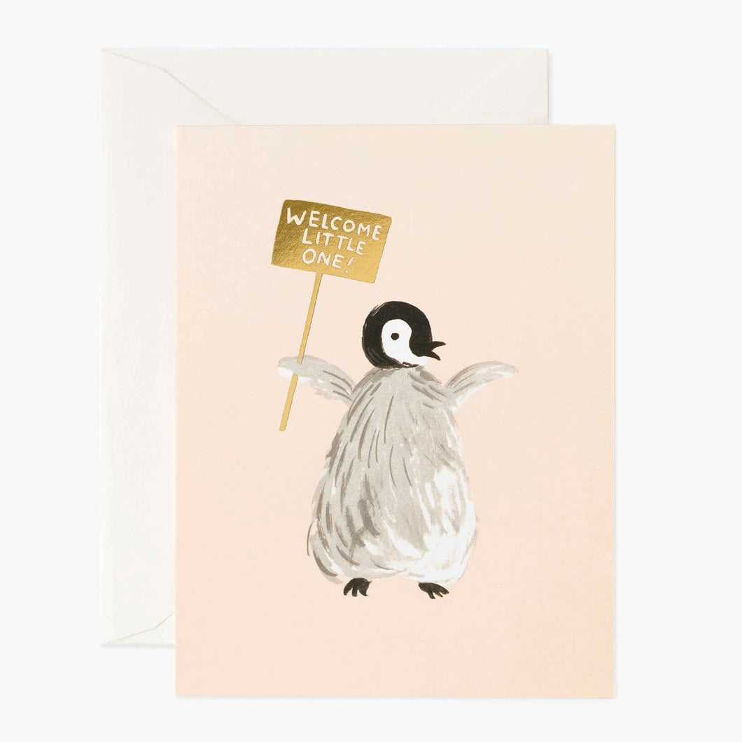 Welcome Penguin Card