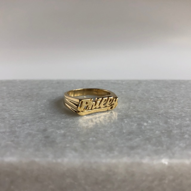 Philly Nameplate Ring