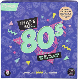 That's So 80s Team Trivia Set Game