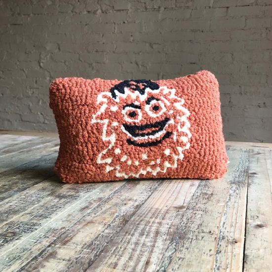 Gritty Hooked Wool Pillow