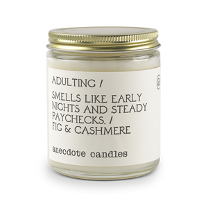 Adulting Fig & Cashmere Candle