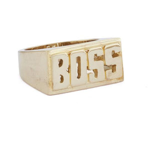 Gold Nameplate Rings